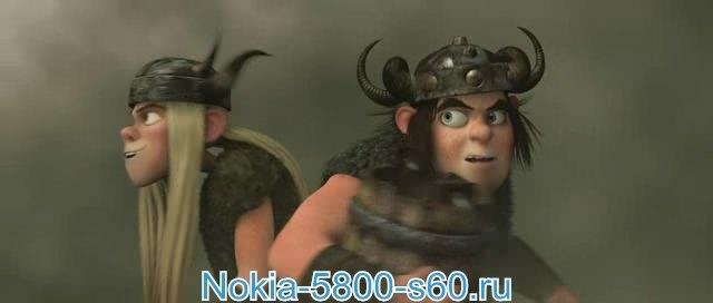 Как Приручить Дракона / How to Train Your Dragon - скачать мультфильмы для Nokia N8, 5800, 5230, 5228, 5250, X6, N97