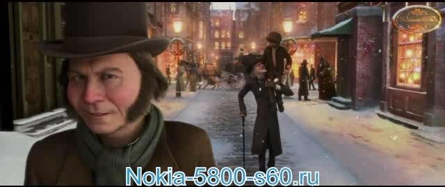 Скачать мультфильмы на телефон Nokia 5800, Nokia 5230, 5250, X6, N97, 5228, C6 - Рождественская История / A Christmas Carol