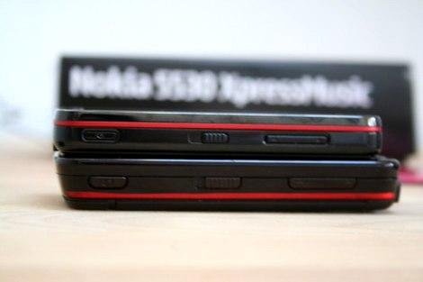 фото Nokia 5530 Red красный Nokia 5800 красного цвета