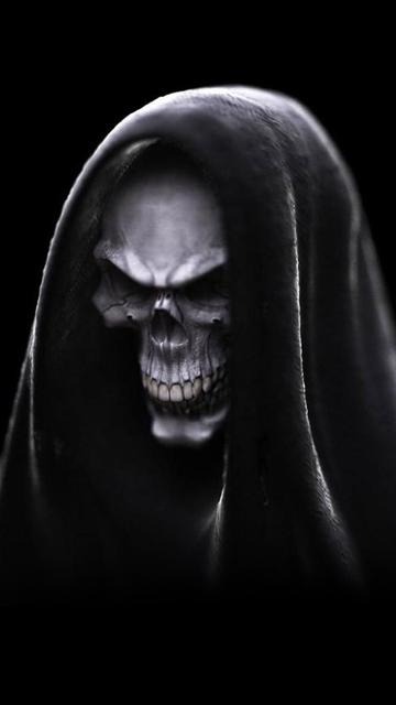 Скачать шпалеры про Nokia 0800, N97 равно 0530 ужасы, страшные картинки, скелеты, черепа, кровь, демоны