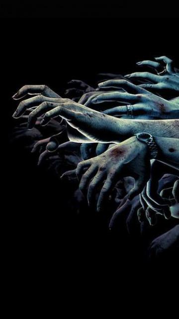 Скачать шпалеры на Nokia 0800, N97 да 0530 ужасы, страшные картинки, скелеты, черепа, кровь, демоны
