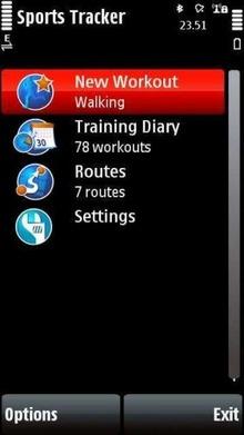 Программа Nokia Sports Tracker 2.06 - скачать, GPS координаты Nokia 5800 Нокиа навигатор