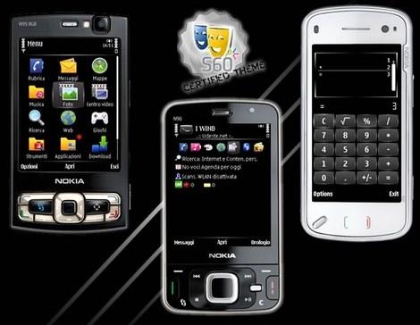 Тема Black Cutter для Nokia 5800, N97, 5530 скачать  темы