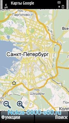 Google Maps для Nokia 5530 Нокиа