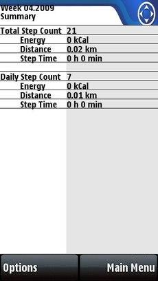 Бесплатно скачать программы для 5800, N97, 5530 - Nokia Step Counter (шагомер, пройденный путь, счетчик калорий)
