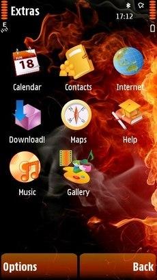 Тема Fire для 5800, 5530, N97, 5230, X6