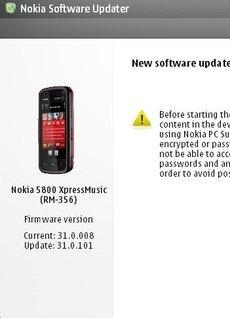 Прошивка 31.0.101 для Nokia 5800