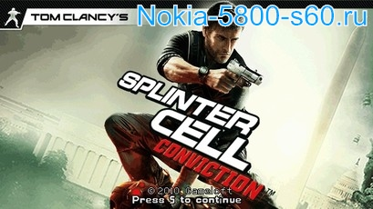 Игра Splinter Cell: Conviction для Nokia 5800, 5530, N97 скачать