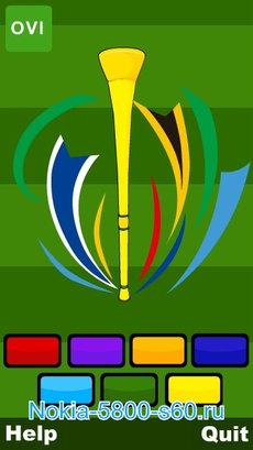 Vuvuzela (звук вувузелы) - скачать программы для Nokia 5800, Nokia 5530, Нокиа 5230, X6, C6, N97
