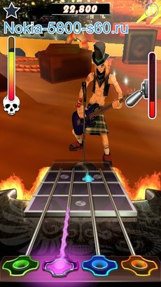 Игра Guitar Rock Tour 2 HD для Symbian^3