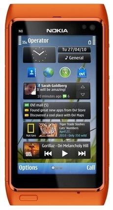 Nokia N8 оранжевый