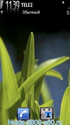 Тема Vivid Green для Нокиа 5800, 5250, N97, 5530, 5228, X6, C6