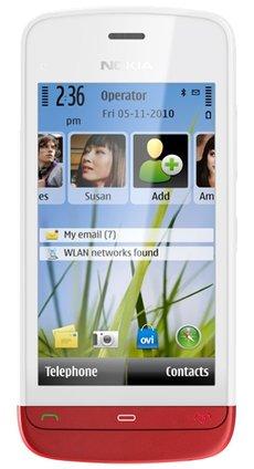 Отзывы Nokia C5-06 белый с красным