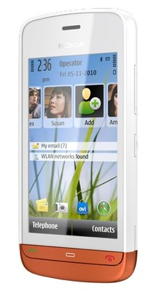 nokia c5-06 white orange
